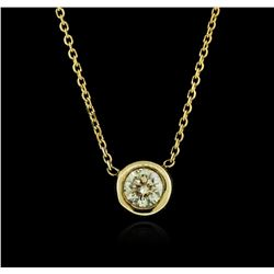 14KT Yellow Gold 0.38 ctw Diamond Necklace