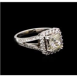 2.43 ctw Diamond Ring - 14KT White Gold