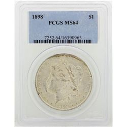 1898 PCGS MS64 Morgan Silver Dollar