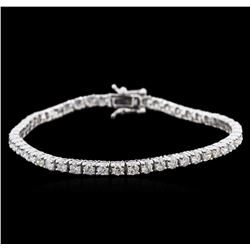 14KT White Gold 4.49 ctw Diamond Tennis Bracelet