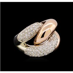 2.53 ctw Diamond Ring - 14KT Two-Tone Gold