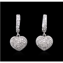 1.14 ctw Diamond Earrings - 14KT White Gold