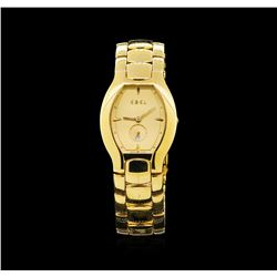 Ebel 18KT Yellow Gold Lichine Tonneau Ladies Watch