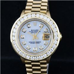 Rolex 18KT Gold President 2.00 ctw Diamond Ladies Watch