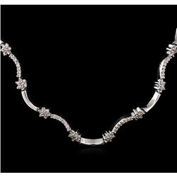 4.00 ctw Diamond Necklace - 14KT White Gold