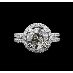 3.80 ctw Diamond Ring - 18KT White Gold