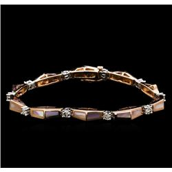 14KT Two-Tone Gold 0.67 ctw Diamond Bracelet