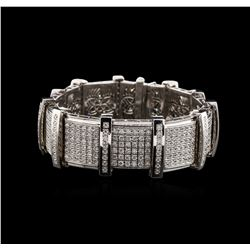 14KT White Gold 5.95 ctw Diamond Bracelet