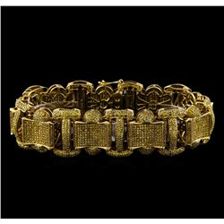 10.50 ctw Diamond Bracelet - 10KT Yellow Gold