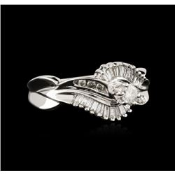 14KT White Gold 0.64 ctw Diamond Ring