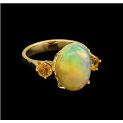 4.67 ctw Multi Gemstone Ring - 14KT Yellow Gold