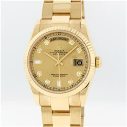 Rolex 18K Gold President Diamond DayDate Men's Watch
