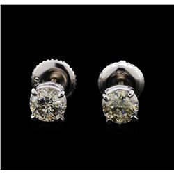 1.91 ctw Diamond Earrings - 14KT White Gold
