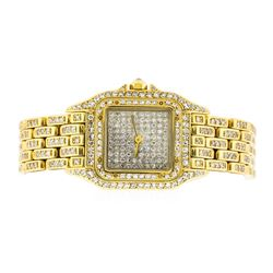 Cartier 18KT Gold 2.50 ctw Diamond Panthere Ladies Watch
