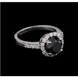 2.80 ctw Black Diamond Ring - 14KT White Gold