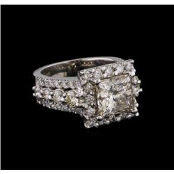 5.91 ctw Diamond Ring - 14KT White Gold