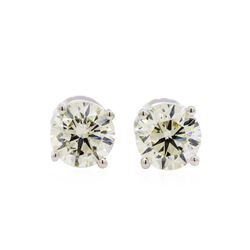 1.53 ctw Diamond Stud Earrings - 14KT White Gold