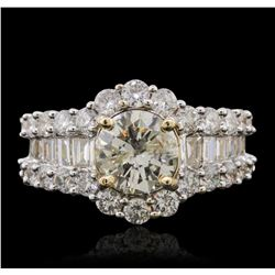 14KT Yellow Gold 3.43 ctw Diamond Ring