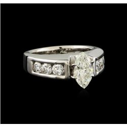 1.61 ctw Diamond Ring - 14KT White Gold