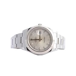 Rolex Stainless Steel Diamond DateJust II Men's Watch