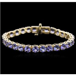 14KT Yellow Gold 17.40 ctw Tanzanite Bracelet
