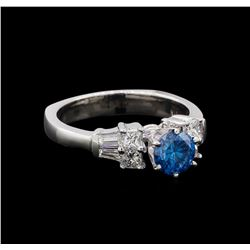 1.35 ctw Blue Diamond Ring - 14KT White Gold