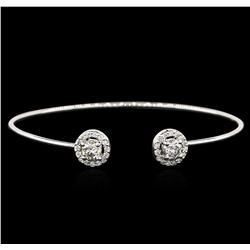 14KT White Gold 1.16 ctw Diamond Bangle Bracelet