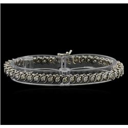 14KT White Gold 2.46 ctw Diamond Tennis Bracelet