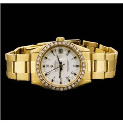 Rolex Midsize DateJust 18KT Yellow Gold 0.76 ctw Diamond Watch