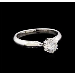 0.59 ctw Diamond Solitaire Ring - 14KT White Gold