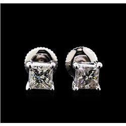 1.20 ctw Diamond Solitaire Earrings - 14KT White Gold