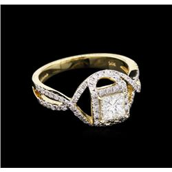 1.17 ctw Diamond Ring - 14KT Yellow Gold