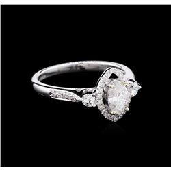 EGL USA Cert 0.74 ctw Diamond Ring - 18KT White Gold