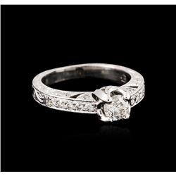 14KT White Gold 0.93 ctw Diamond Ring