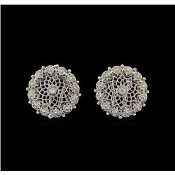 14KT White Gold 0.74 ctw Diamond Earrings
