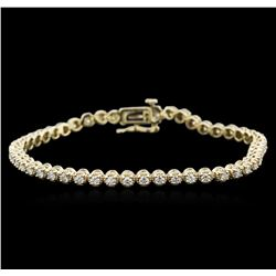 14KT Yellow Gold 2.00 ctw Diamond Tennis Bracelet