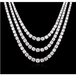 14KT White Gold 10.26 ctw Diamond Necklace