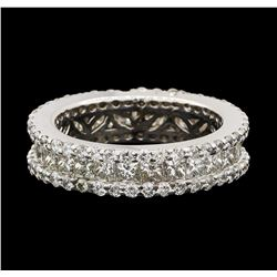 3.50 ctw Diamond Ring - 18KT White Gold