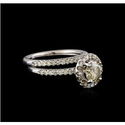 1.68 ctw Diamond Wedding Ring Set - 14KT White Gold