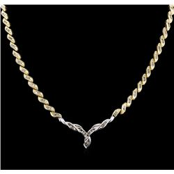 14KT White and Yellow Gold 8.84 ctw Diamond Necklace