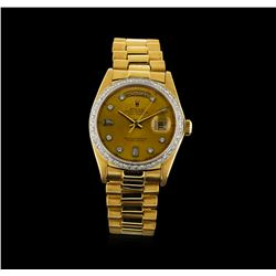 Rolex 18KT Gold President Diamond DayDate Men's Watch
