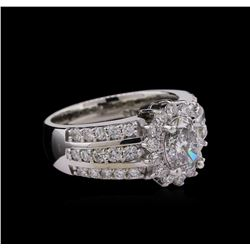 2.08 ctw Diamond Ring - 14KT White Gold