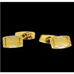 18KT Yellow Gold Cuff Links