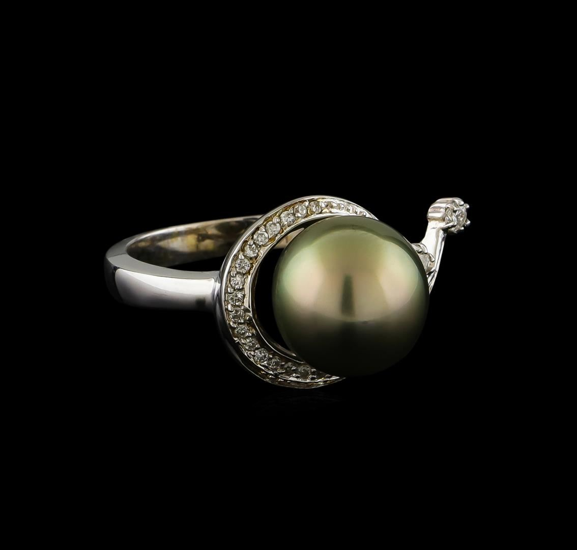pearl and ring 14kt white gold