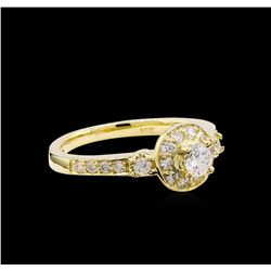 0.61 ctw Diamond Ring - 14KT Yellow Gold