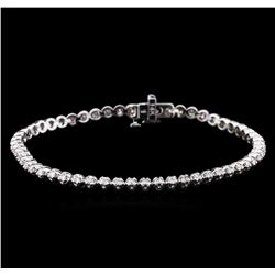 1.15 ctw Diamond Tennis Bracelet - 14KT White Gold