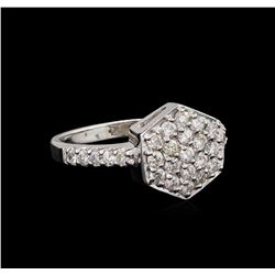 0.68 ctw Diamond Ring - 14KT White Gold