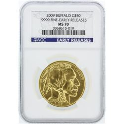 2009 Early Release NGC Graded MS70 1oz American Buffalo Gold Coin