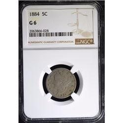 1884 LIBERTY NICKEL NGC G-6