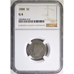 1888 LIBERTY NICKEL NGC G-4